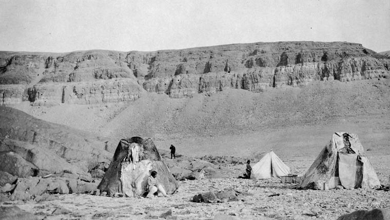 Inuit skin tents at the Royal Canadian Mounted Police detachment. Credit L.D. Livingstone / Library and Archives Canada / e002342682 & Policing the Eastern Arctic | Arctic Defenders | A Story of ...